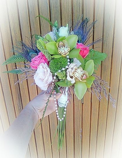 Bouquet de mariée à face