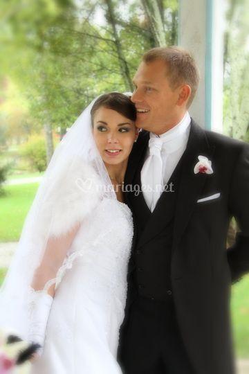 Photo sublime mariés