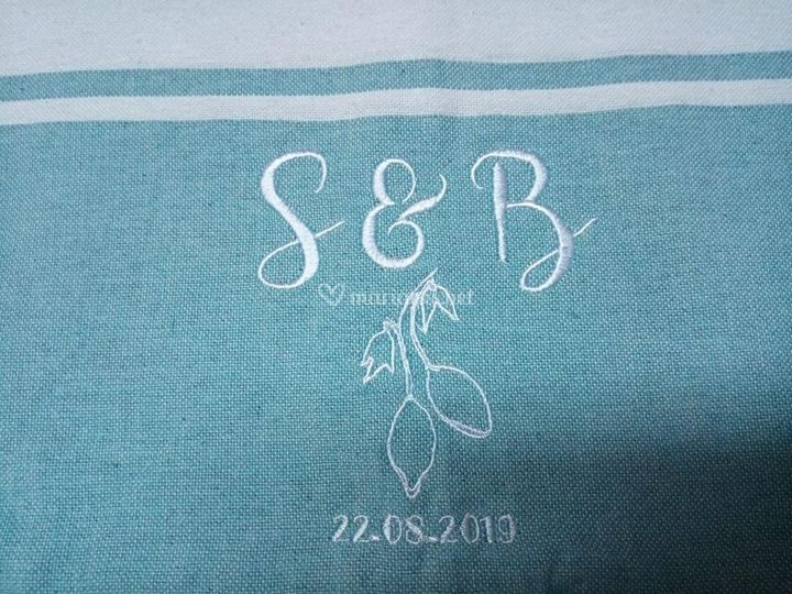 Broderie pour mariage