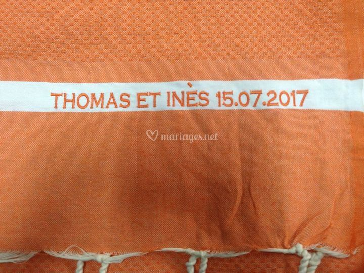 Broderie pour mariage 2017