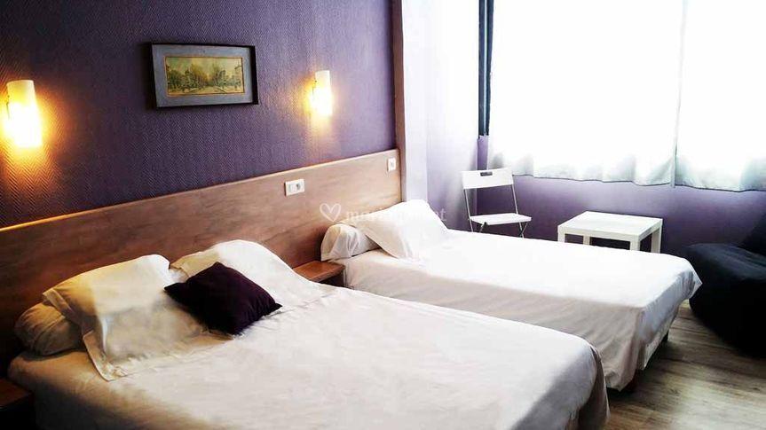 Chambre d'hôtel côté mer