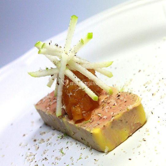 Foie gras tatin tonka