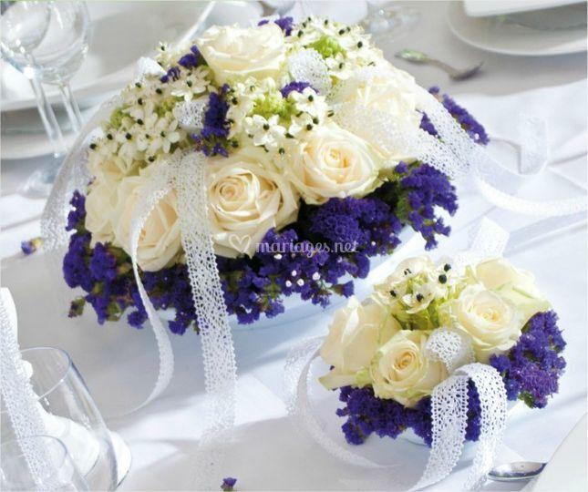 Mariage thème blanc & bleu