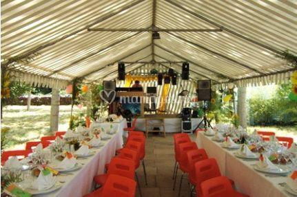 Restaurant sous tente