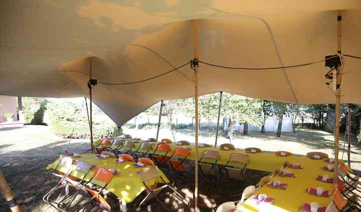 Tente Stretch 65m2 - Repas 40