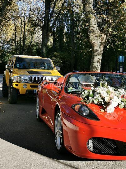 Ferrari f430 spider et Hummer