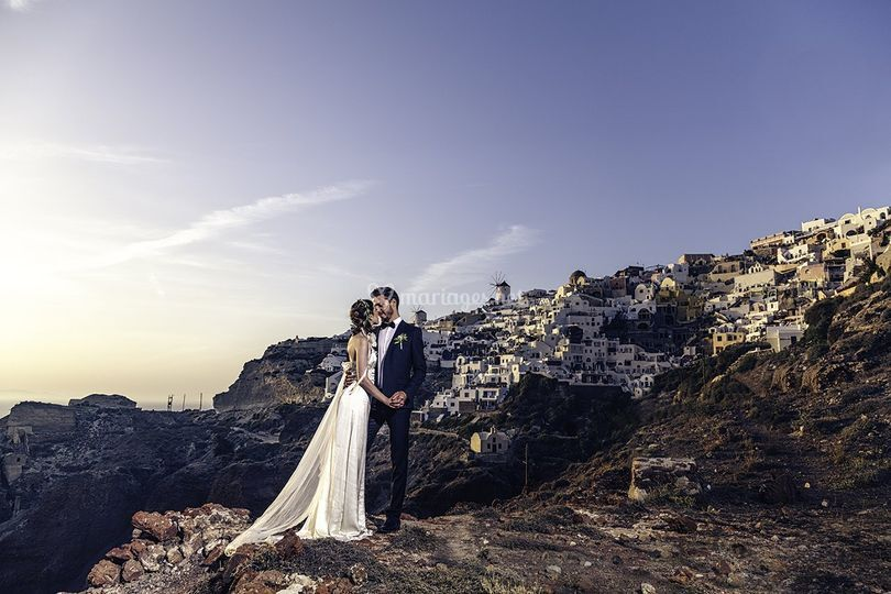 Couple en Grèce (Oia)