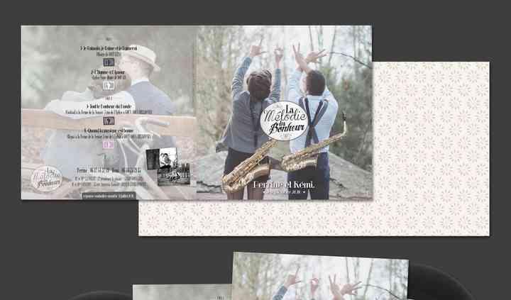 Pochette vinyl 45T mariage