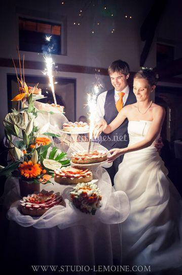 Coupe du gâteau - Mariage