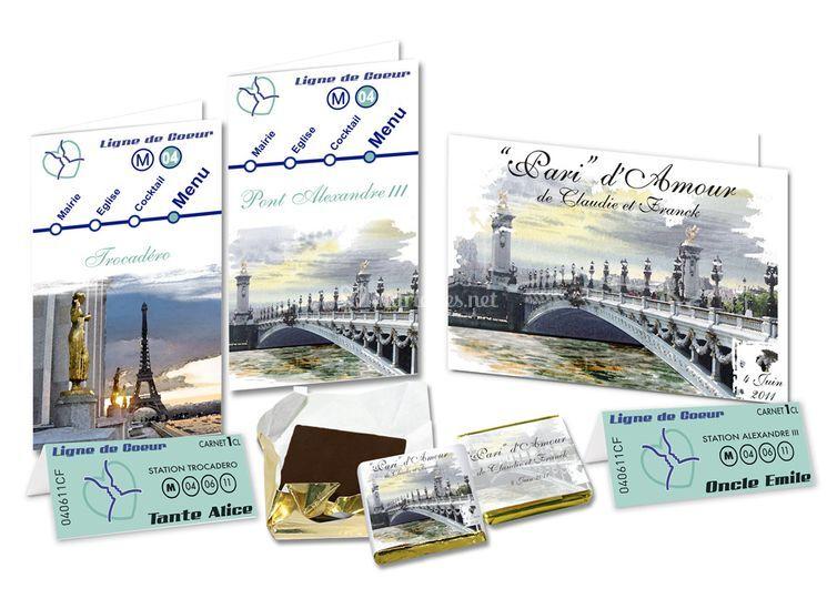 Voyage : Faire-part Paris