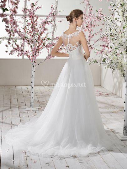 Robe de mariée 195-23 dos