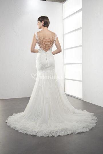 Robe de mariée LAURENCE dos