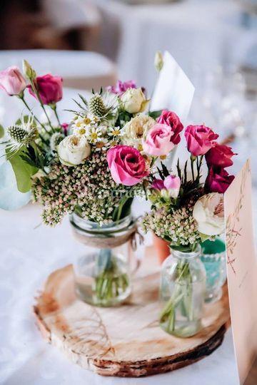 Bocaux fleuris/estelle leclerc