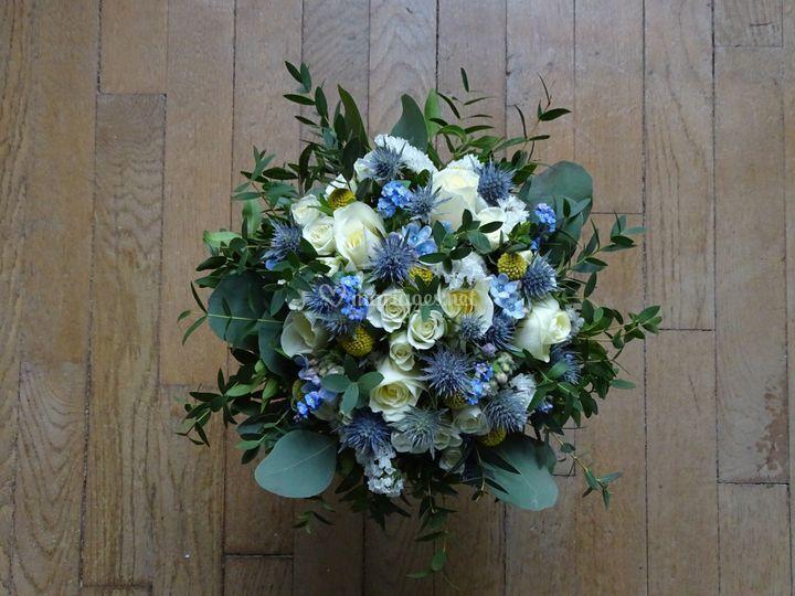 Bouquet bleuté/estelle