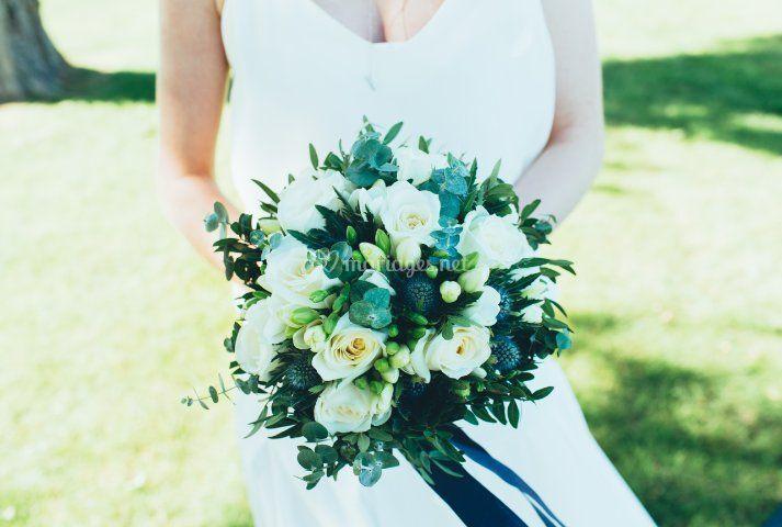 Bouquet bleu/Estelle Leclerc