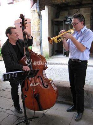 Trompette et contrebasse