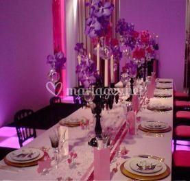 Mariage déco lilas