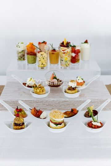Buffet pièces cocktail salées