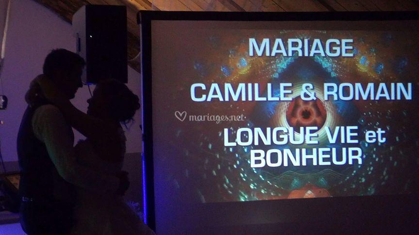 Vidéo projection My Mariage