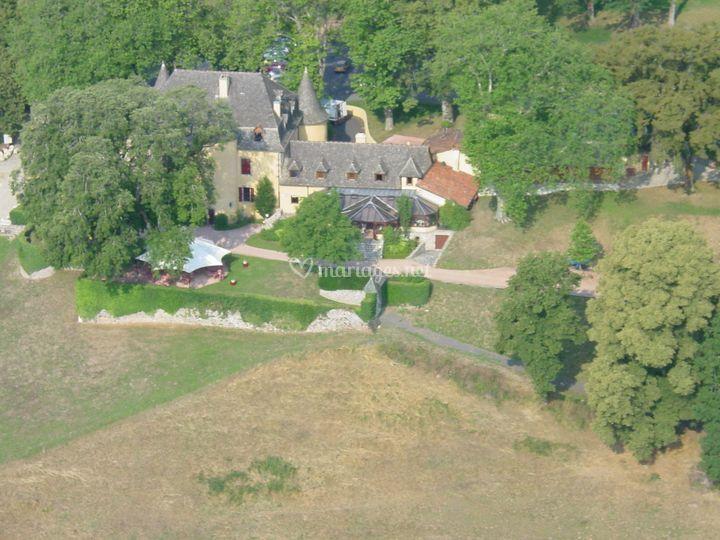 Le domaine, vue aérienne