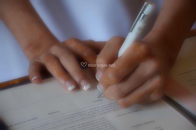 Signature mariée