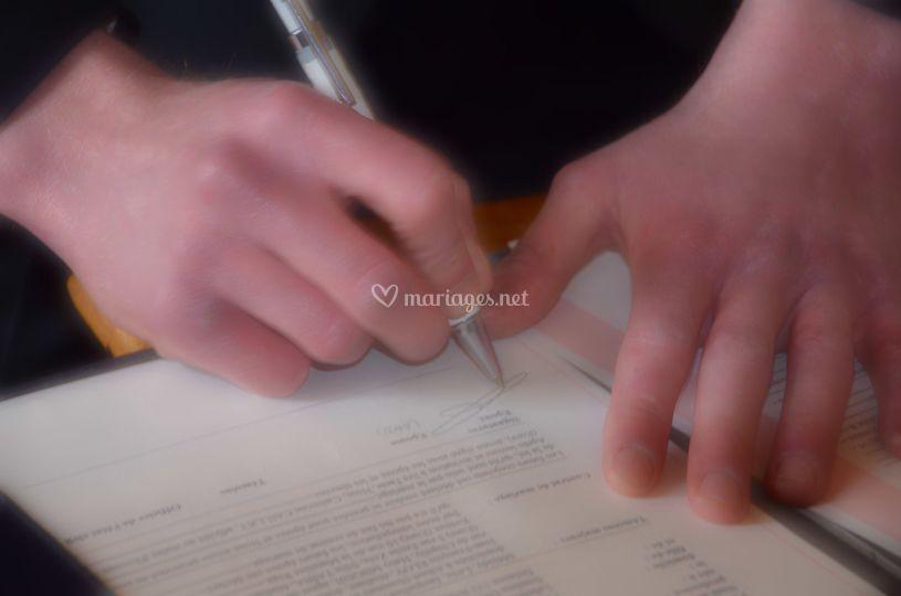 Signature marié