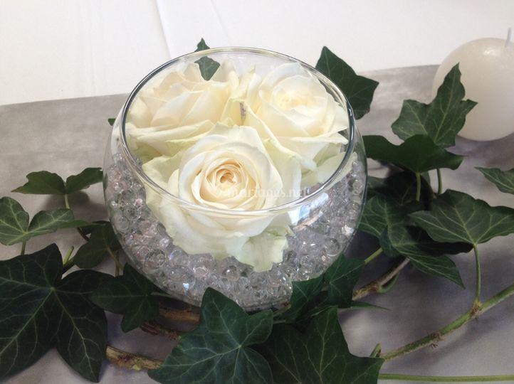 Rose vase boule