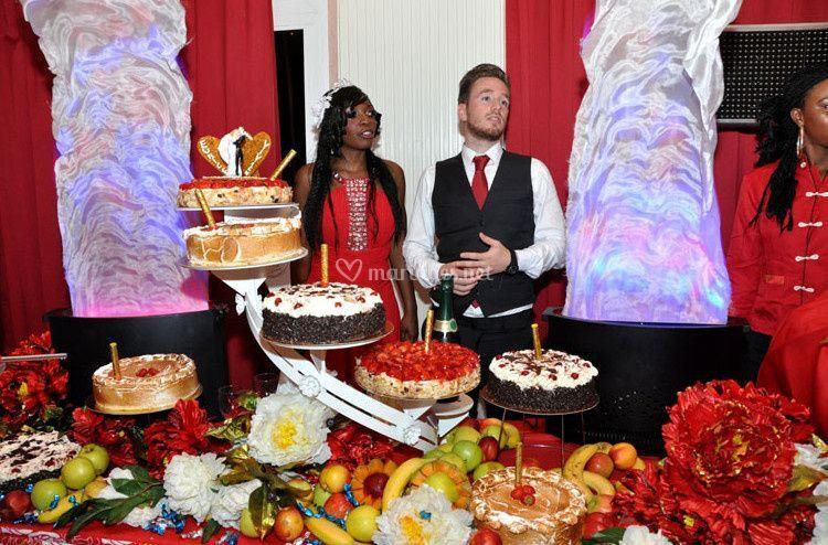 buffet de desserts sur la providence en traiteur africain - Traiteur Camerounais Mariage