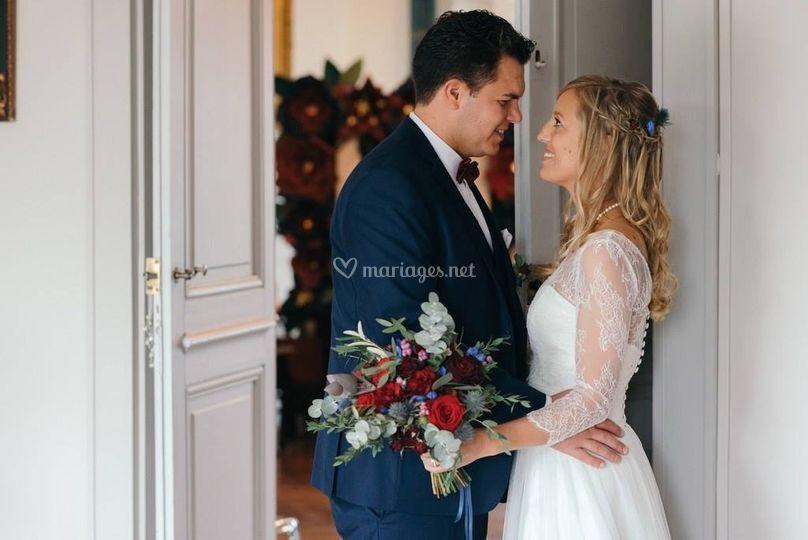 Mariés aux couleurs Burgundy