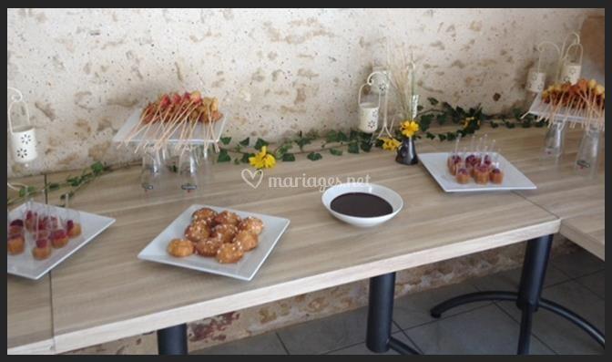 buffet sucr de restaurant du domaine de pescheray photo 11. Black Bedroom Furniture Sets. Home Design Ideas