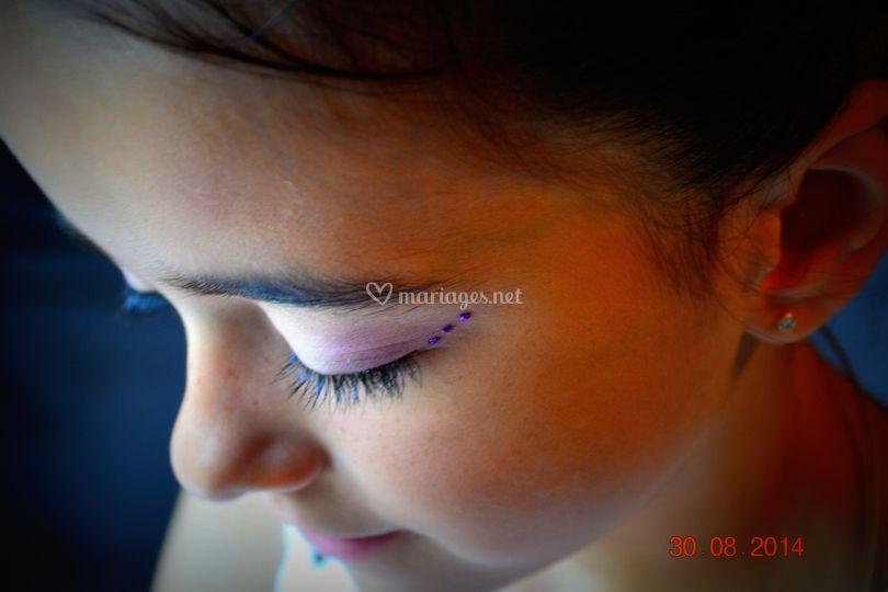 Maquillage fillette 30/08/2014