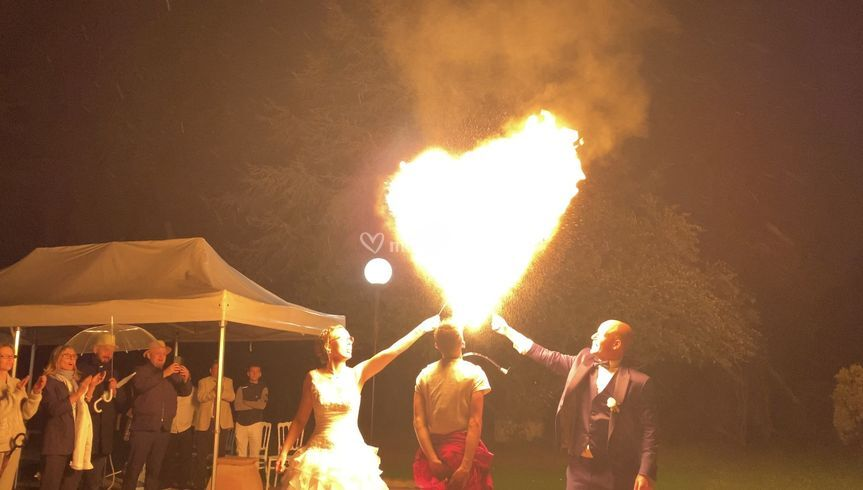 Spectacle Feu Mariage