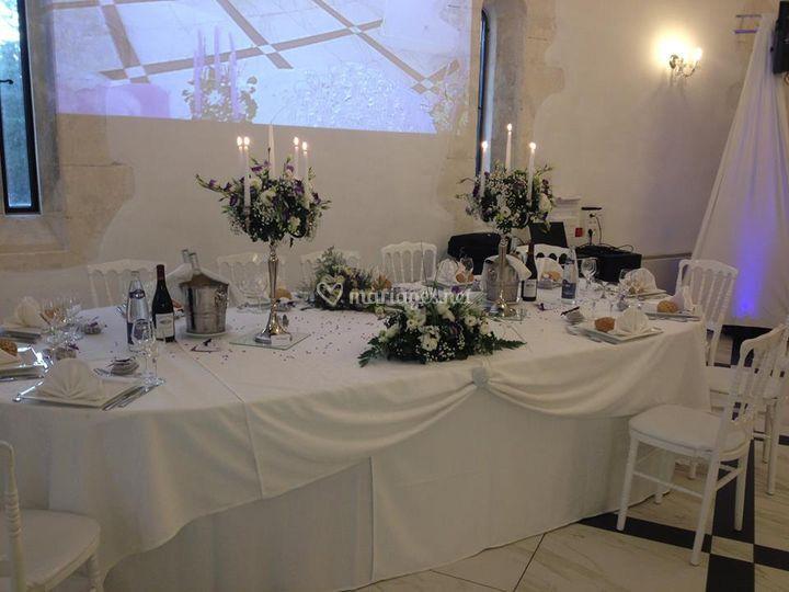 Déco table des mariés
