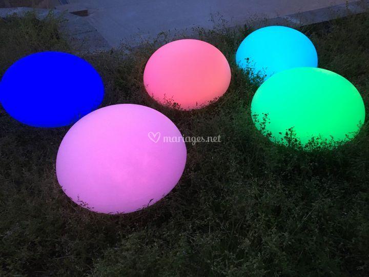 Boule led en location