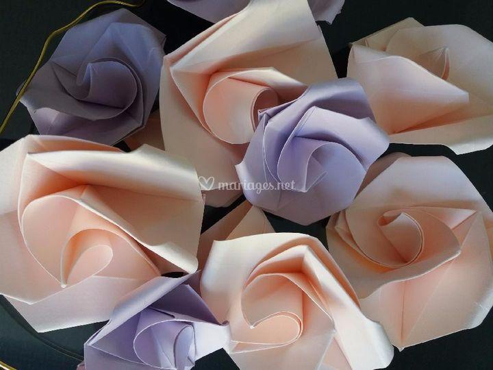 Ambiance rose poudré parme