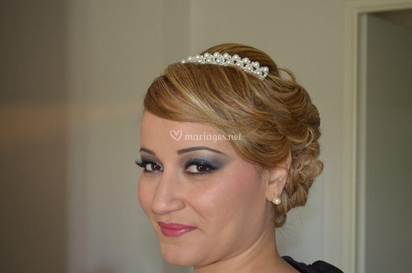 Chignon mariée et make-up
