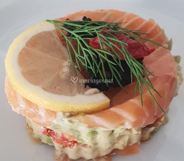 Tartare de saumon et avocat