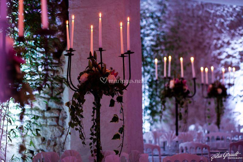 Centre de tables chandelier