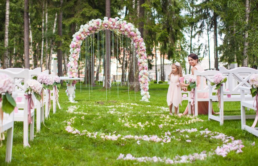 Arche de fleurs