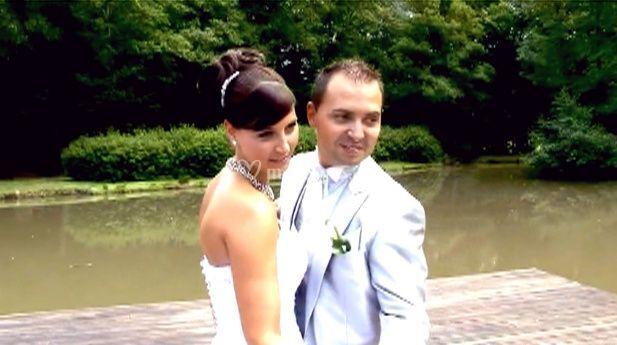 Séverine et José, pose des mariés