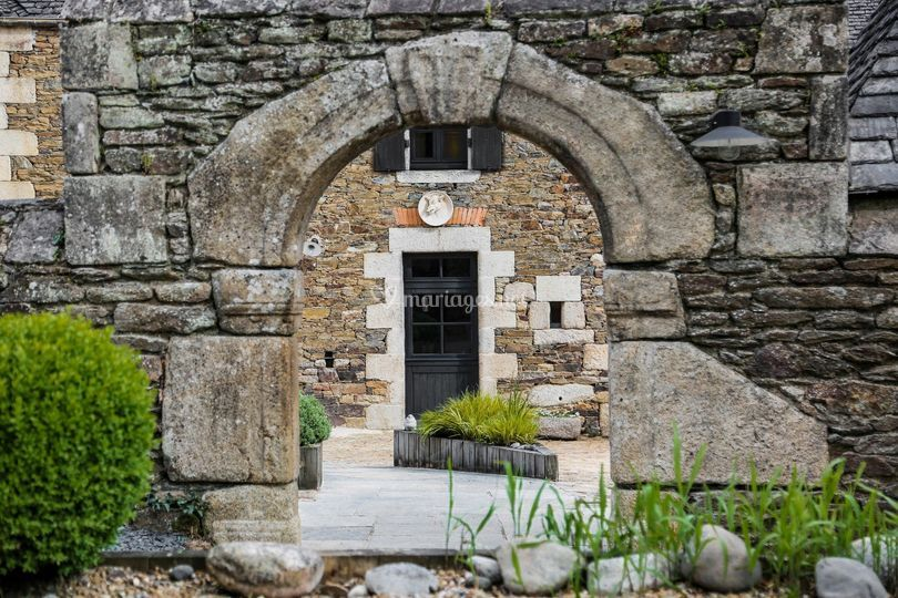 Porche en pierre