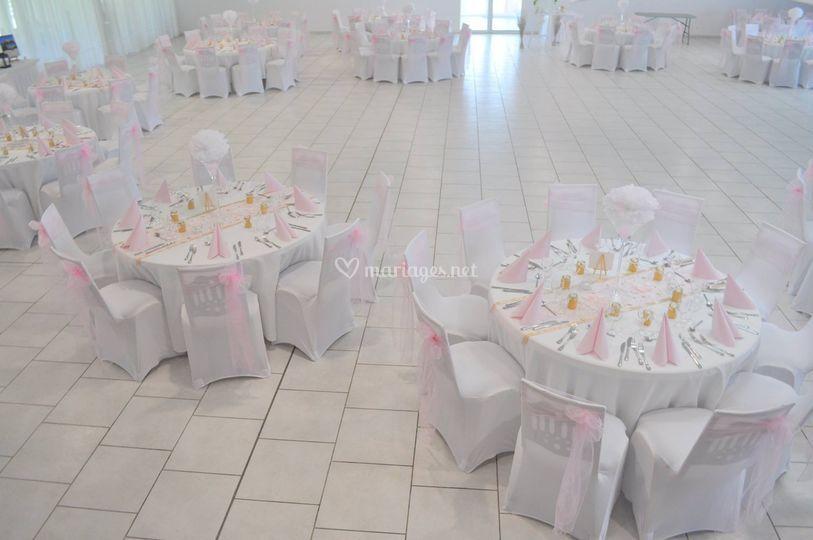 Salle mariage en rose