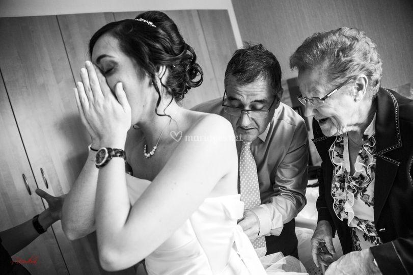 Une mariée ..