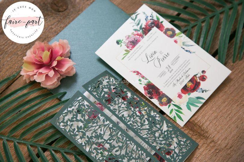 Pochette Nature Floral