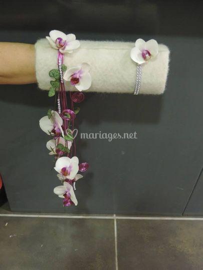Manchon fleuri