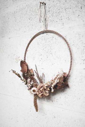 Decoration en fleurs séchées