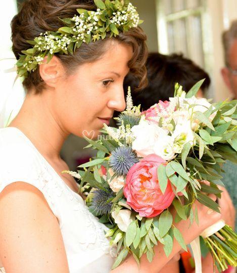 Couronne , bouquet de mariée