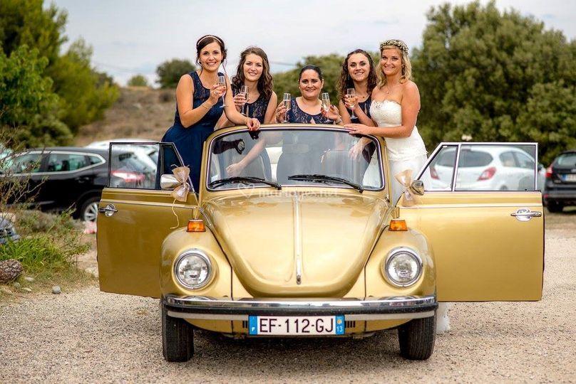 Mariage en Coccinelle Sun Bug
