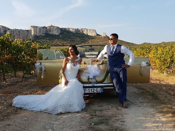 Mariage Coccinelle cabriolet