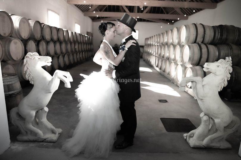 Dans les caves de champagne